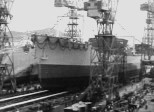 造船所進水式